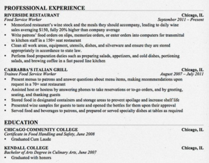 Resume Styles First Workings
